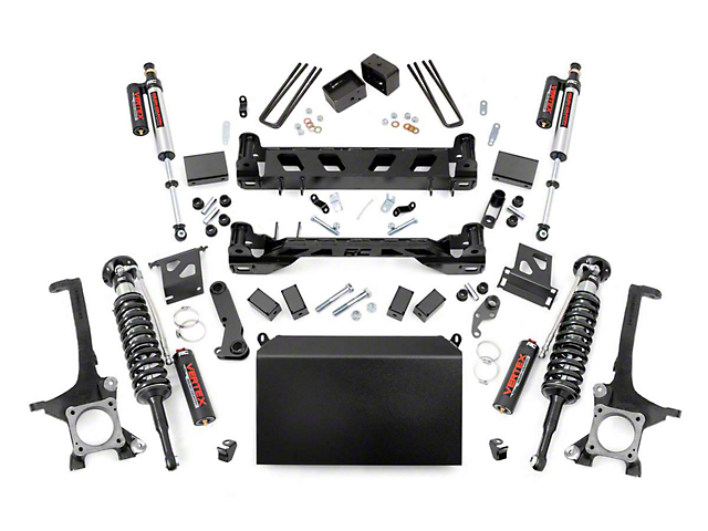 Rough Country 6-Inch Suspension Lift Kit with Adjustable Vertex Coil-Overs and Vertex Reservoir Shocks (16-21 Tundra, Excluding TRD Pro)