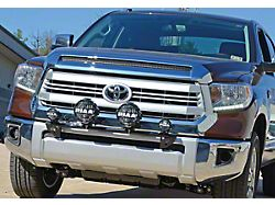 N-Fab Front Light Mount Bar with Multi-Mount; Gloss Black (07-13 Tundra)