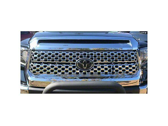 Upper Grille Overlay; Chrome (18-21 Tundra)