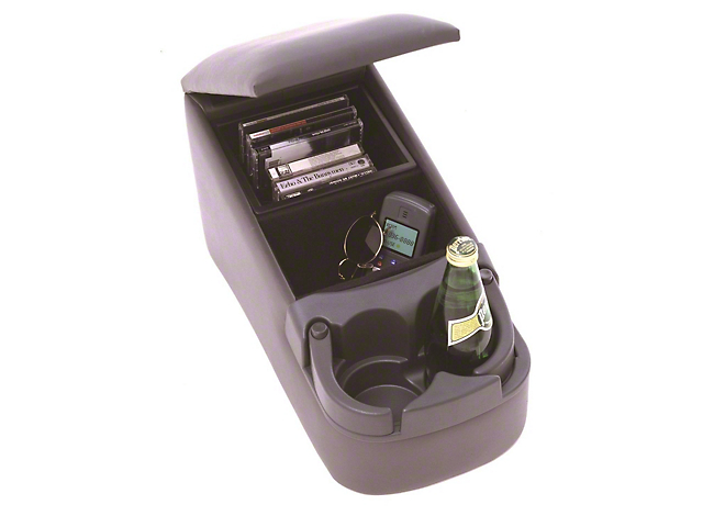 Universal Truck Bench Seat Center Console; Charcoal (Universal Fitment)