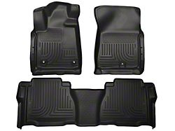 Husky WeatherBeater Front and Second Seat Floor Liners; Footwell Coverage; Black (12-13 Tundra Double Cab, CrewMax)