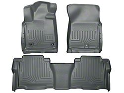 Husky WeatherBeater Front and Second Seat Floor Liners; Footwell Coverage; Gray (12-13 Tundra Double Cab, CrewMax)