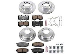 Power Stop Z36 Extreme Truck and Tow 5-Lug Brake Rotor and Pad Kit; Front and Rear (07-21 Tundra)