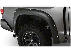 Bushwacker Pocket Style Fender Flares; Rear; Matte Black (14-21 Tundra)