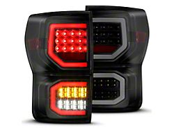 Axial LED Tail Lights; Black Housing; Smoked Lens (07-11 Tundra)