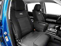 Rough Country Neoprene Front and Rear Seat Covers; Black (14-21 Tundra CrewMax)