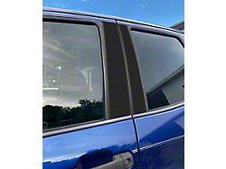 Door Pillar Accent Trim; Matte Black (07-21 Tundra Double Cab, CrewMax)