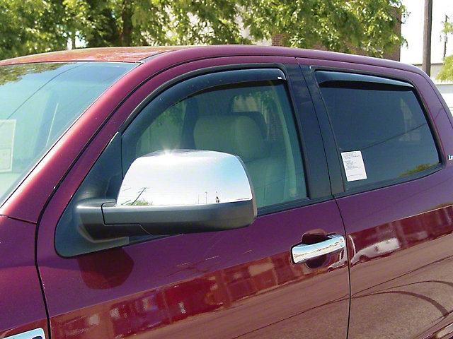 In-Channel Window Deflectors; Front and Rear; Smoke (07-21 Tundra CrewMax)