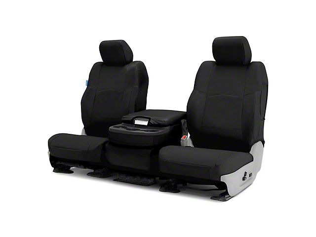 Coverking Cordura Ballistic Custom-Fit Front Seat Covers; Black (14-21 Tundra w/ Bench Seat)