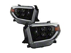 Full LED Headlights; Black Housing; Clear Lens (14-17 Tundra; 2018 Tundra SR, SR5)