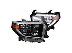 OEM Style Full LED Headlights; Black Housing; Clear Lens (14-17 Tundra SR, SR5, TRD Pro)