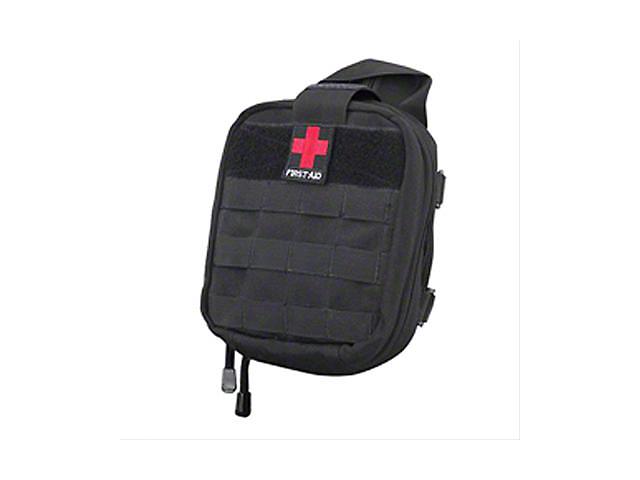 Smittybilt Roll Bar Mount; First-Aid Storage Bag; Black