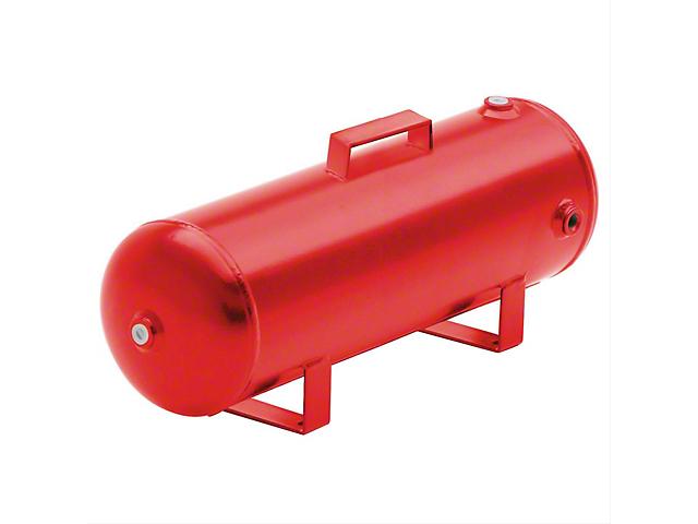 Smittybilt Tire Air Compressor Kit; Air Tank; 2.50-Gallon Capacity; Red