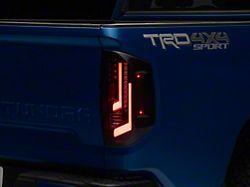LED Tail Lights; Black Housing; Smoked Lens (14-21 Tundra)