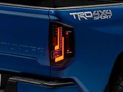 LED Tail Lights; Gloss Black Housing; Clear Lens (14-21 Tundra)