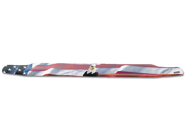 Vigilante Premium Hood Protector; American Flag with Eagle (14-21 Tundra)