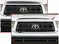 Front Grille Accent Trim; Upper Insert; Stainless Steel (10-13 Tundra)