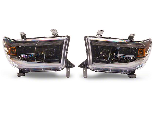 Morimoto XB LED Projector Headlights; Black Housing; Clear Lens (07-13 Tundra)
