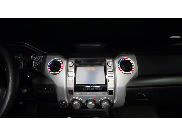 A/C Vent Ring Cap Accent Trim; American Flag Edition (14-21 Tundra)