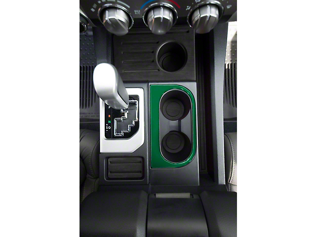 Center Console Cup Holder Replacement Accent Trim; Army Green (14-21 Tundra)