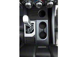 Center Console Cup Holder Replacement Accent Trim; Brushed Silver (14-21 Tundra)