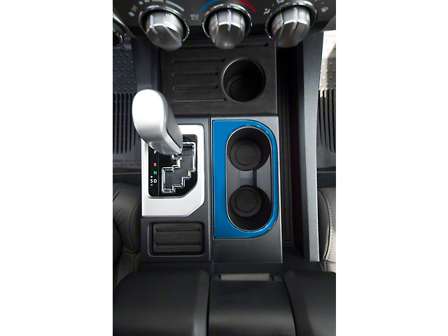 Center Console Cup Holder Replacement Accent Trim; Cavalry Blue (14-21 Tundra)