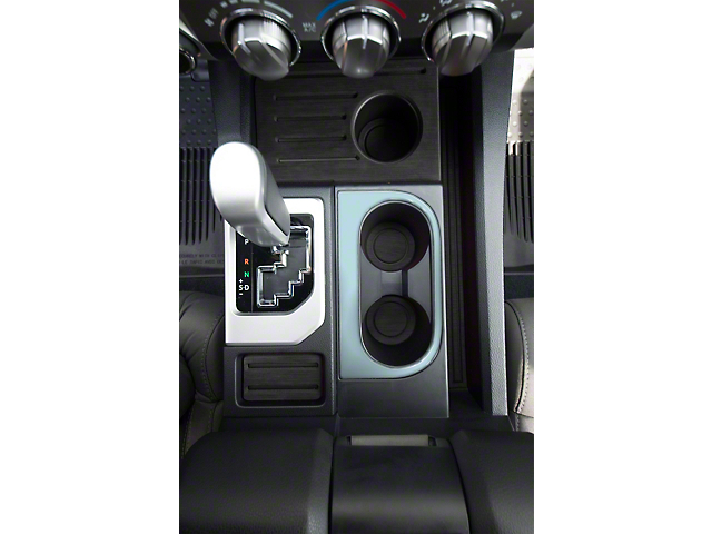 Center Console Cup Holder Replacement Accent Trim; Cement Gray (14-21 Tundra)