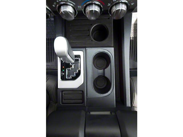 Center Console Cup Holder Replacement Accent Trim; Charcoal Silver (14-21 Tundra)