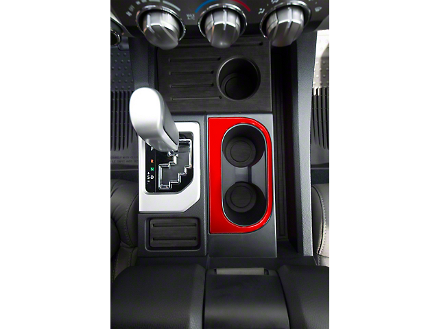 Center Console Cup Holder Replacement Accent Trim; Gloss TRD Red (14-21 Tundra)
