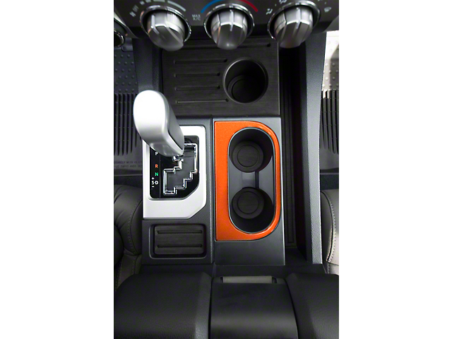Center Console Cup Holder Replacement Accent Trim; Inferno Orange (14-21 Tundra)