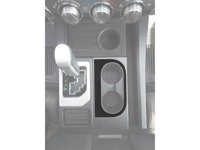 Center Console Cup Holder Replacement Accent Trim; Raw Carbon Fiber (14-21 Tundra)