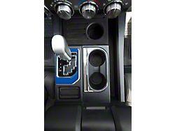 Center Console Shifter Accent Trim; Blazing Blue (14-21 Tundra)