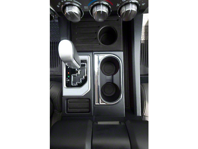 Center Console Shifter Accent Trim; Brushed Silver (14-21 Tundra)