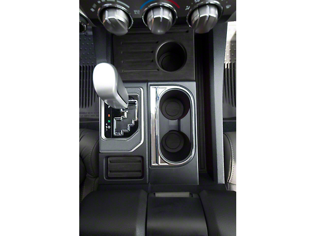 Center Console Shifter Accent Trim; Charcoal Silver (14-21 Tundra)
