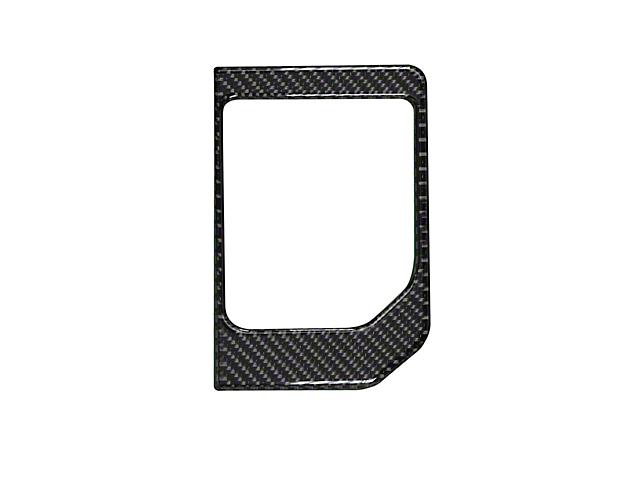 Center Console Shifter Accent Trim; Domed Carbon Fiber (14-21 Tundra)
