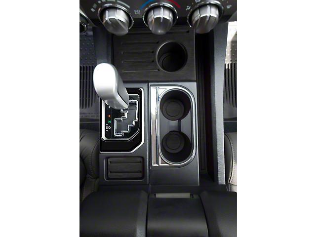 Center Console Shifter Accent Trim; Gloss Black (14-21 Tundra)