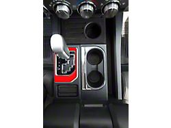 Center Console Shifter Accent Trim; Gloss TRD Red (14-21 Tundra)
