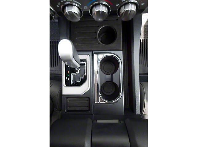 Center Console Shifter Accent Trim; Gloss White (14-21 Tundra)