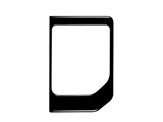 Center Console Shifter Accent Trim; Matte Black (14-21 Tundra)