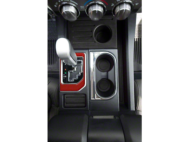 Center Console Shifter Accent Trim; Ruby Red (14-21 Tundra)