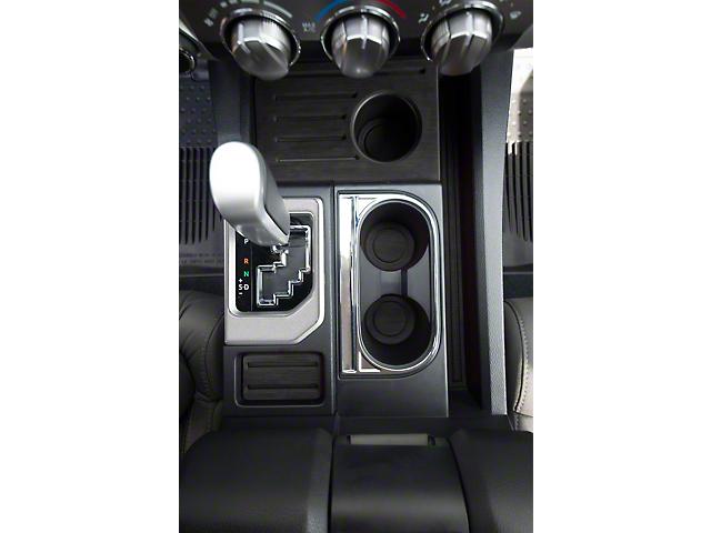 Center Console Shifter Accent Trim; Turbo Silver (14-21 Tundra)