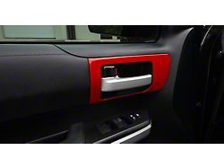 Front Door Handle Accent Trim; Gloss TRD Red (14-21 Tundra w/o Memory Seat Button)