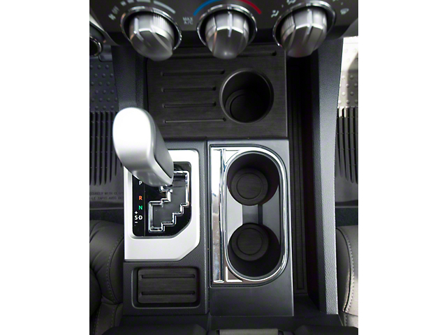 Interior Cup Holder Foam Inserts; Black/Black (14-21 Tundra w/ Bucket Seats)