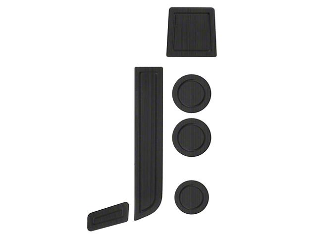 Interior Cup Holder Foam Inserts; Black/Black (07-13 Tundra w/ Bucket Seats)