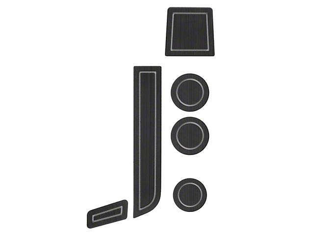 Interior Cup Holder Foam Inserts; Black/Gray (07-13 Tundra w/ Bucket Seats)