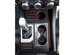 Interior Cup Holder Foam Inserts; Black/Tan (14-21 Tundra w/ Bucket Seats)