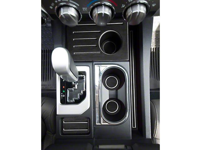 Interior Cup Holder Foam Inserts; Black/White (14-21 Tundra w/ Bucket Seats)