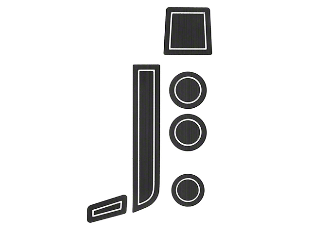 Interior Cup Holder Foam Inserts; Black/White (07-13 Tundra w/ Bucket Seats)