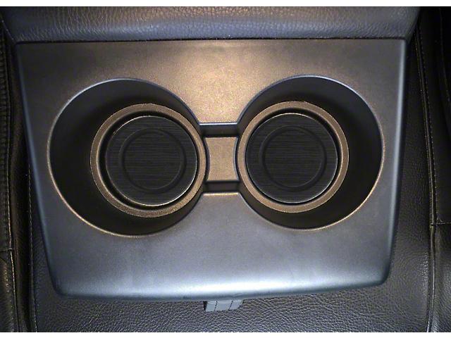 Rear Fold Down Seat Cup Holder Foam Inserts; Black/Black (07-21 Tundra)