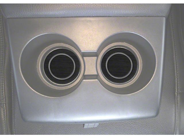 Rear Fold Down Seat Cup Holder Foam Inserts; Black/Gray (07-21 Tundra)
